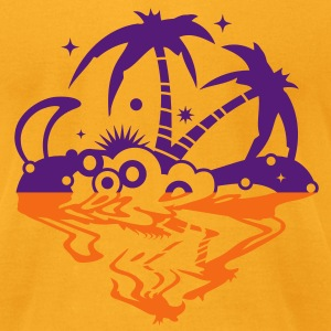 An island in the sea T-Shirts - Men's T-Shirt by American Apparel