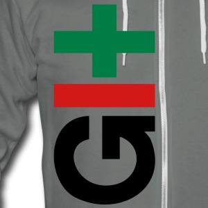charcoal GIT version control hoodie - Unisex Fleece Zip Hoodie by American Apparel