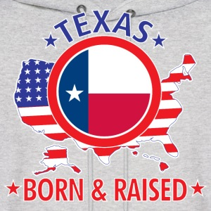 Texas_born_and_raised Hoodies - Men's Hoodie