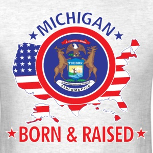 Michigan_born_and_raised T-Shirts - Men's T-Shirt