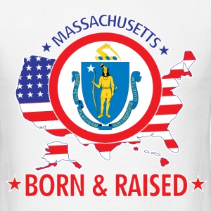 Massachusetts_born_and_raised T-Shirts - Men's T-Shirt