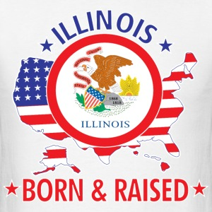 Illinois_born_and_raised T-Shirts - Men's T-Shirt
