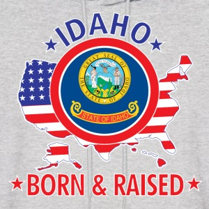 Idaho_born_and_raised Hoodies - Men's Hoodie