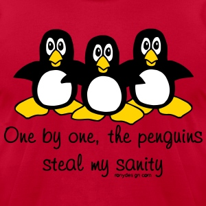 One by One The Penguins - Men's T-Shirt by American Apparel