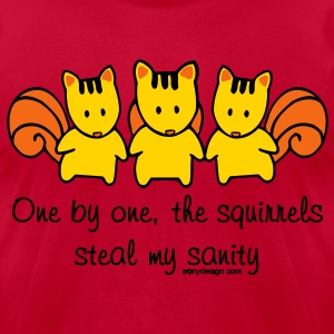 One by one the Squirrels - Men's T-Shirt by American Apparel