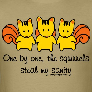 One by one the Squirrels - Men's T-Shirt