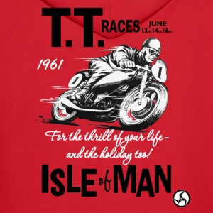 Isle Of Man TT Poster 1961 (check out the back of the shirt!!) - Men's Hoodie