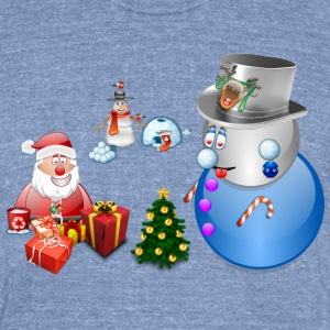 Christmas Scene 1 - Unisex Tri-Blend T-Shirt by American Apparel