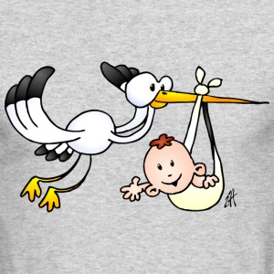 Stork with a baby Long Sleeve Shirts - Men's Long Sleeve T-Shirt by Next Level
