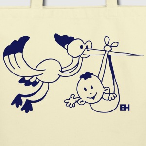 Stork with a baby Bags  - Eco-Friendly Cotton Tote