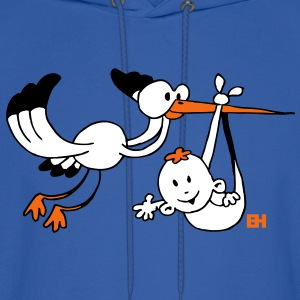 Stork with baby Hoodies - Men's Hoodie