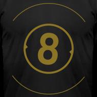 Design ~ 8 Ball Metallic Gold Print - American Apparel AA Shirt (M)