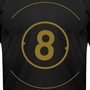 8 Ball Metalic Gold Print - American Apparel AA Shirt (M) - Men's T-Shirt by American Apparel