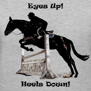 Eyes Up! Heels Down Horse Jumper Shirt - Women's V-Neck T-Shirt