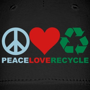 Peace Love Recycle Hat - Baseball Cap