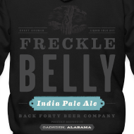 Design ~ Men's Zipper Hoddie with Freckle Belly (back) logo