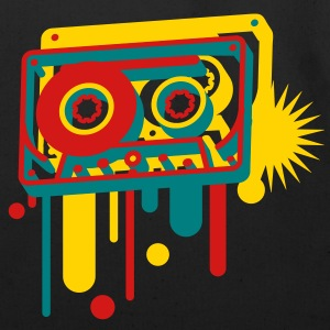 3D music cassette in graffiti style Bags  - Eco-Friendly Cotton Tote