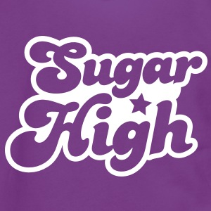 sugar high blue in a funky font Zip Hoodies/Jackets - Unisex Fleece Zip Hoodie by American Apparel