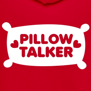 PILLOW TALKER on a pillow with love hearts Zip Hoodies/Jackets - Unisex Fleece Zip Hoodie by American Apparel