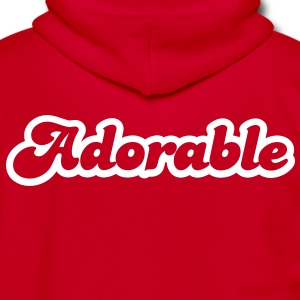 adorable! in cute font Zip Hoodies/Jackets - Unisex Fleece Zip Hoodie by American Apparel