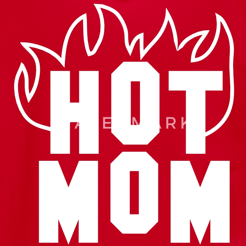 hot MOM with fire red Zip Hoodies/Jackets - Unisex Fleece Zip Hoodie by American Apparel