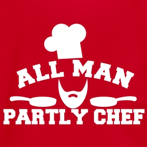 ALL MAN partly CHEF  Zip Hoodies/Jackets - Unisex Fleece Zip Hoodie by American Apparel
