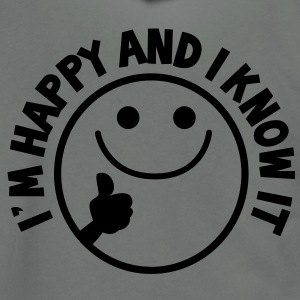 I'm HAPPY and I know it with thumbs up smiley Zip Hoodies/Jackets - Unisex Fleece Zip Hoodie by American Apparel
