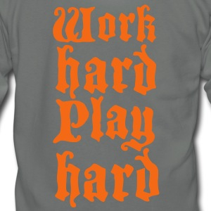 work hard play hard Zip Hoodies/Jackets - Unisex Fleece Zip Hoodie by American Apparel