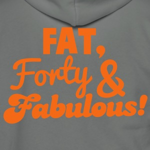 fat forty and fabulous! 40 big forty birthday design Zip Hoodies/Jackets - Unisex Fleece Zip Hoodie by American Apparel