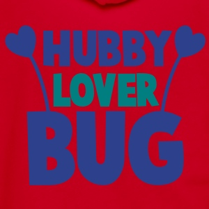 hubby husband lover love bug with cute antennae Zip Hoodies/Jackets - Unisex Fleece Zip Hoodie by American Apparel