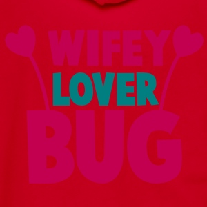 wifey wife lover love bug with cute antennae Zip Hoodies/Jackets - Unisex Fleece Zip Hoodie by American Apparel