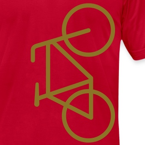 Bike Lane Metallic Gold - American Apparel AA Shirt (M) - Men's T-Shirt by American Apparel