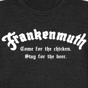 Frankenmuth T-Shirts - Unisex Tri-Blend T-Shirt by American Apparel