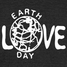 Love earth day Men's Tri-Blend Vintage T-Shirt by American Apparel