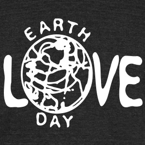 Love earth day Men's Tri-Blend Vintage T-Shirt by American Apparel - Unisex Tri-Blend T-Shirt