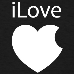 iLove Apple Heart - Men's T-Shirt