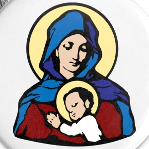 Mary and Jesus - Large Buttons