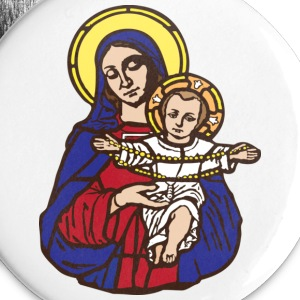 Mary and Jesus - Small Buttons