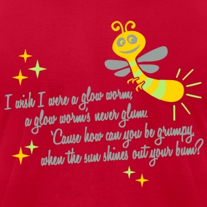 I wish I were a glow worm T-Shirts - Men's T-Shirt by American Apparel