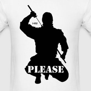 Ninja Please, - Men's T-Shirt