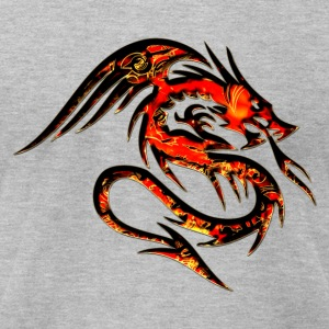 Dragon fire , digital, red T-Shirts - Men's T-Shirt by American Apparel