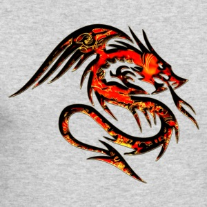 Dragon fire , digital, red Long Sleeve Shirts - Men's Long Sleeve T-Shirt by Next Level