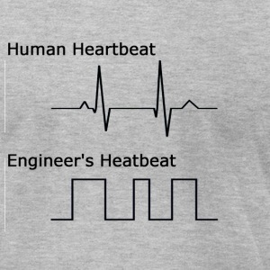 Engineer's Heartbeat - Men's T-Shirt by American Apparel