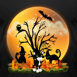 Halloween Cats T-Shirts - Men's T-Shirt by American Apparel