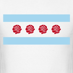 Bulls Rose Chicago Flag T-Shirt - Men's T-Shirt