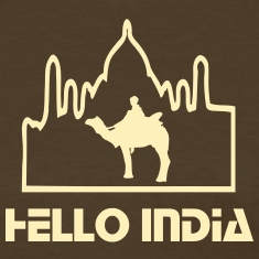Hello India camel tour Taj mahal Women's Standard Weight T-Shirt