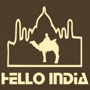Hello India camel tour Taj mahal Women's Standard Weight T-Shirt - Women's T-Shirt