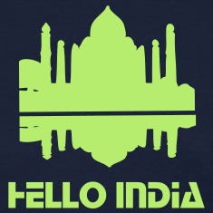Hello India Taj Mahal Women's Standard Weight T-Shirt