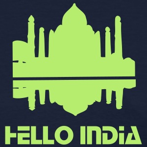 Hello India Taj Mahal Women's Standard Weight T-Shirt - Women's T-Shirt