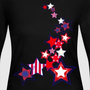 Stars and Stripes - Women's Long Sleeve Jersey T-Shirt